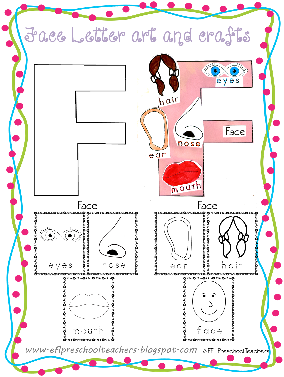 Esl Efl Preschool Teachers Face Teaching Materials For