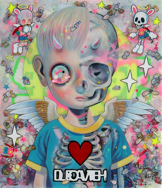 "arte, pintura, pop art inspiration, imagenes tristes | ""Life and Death"" by Hikari Shimoda"