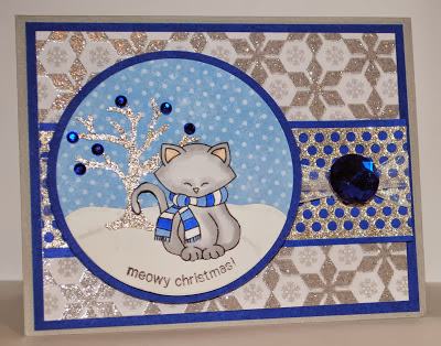 Meowy Christmas card by Indy using Newton's Nook Designs Stamps