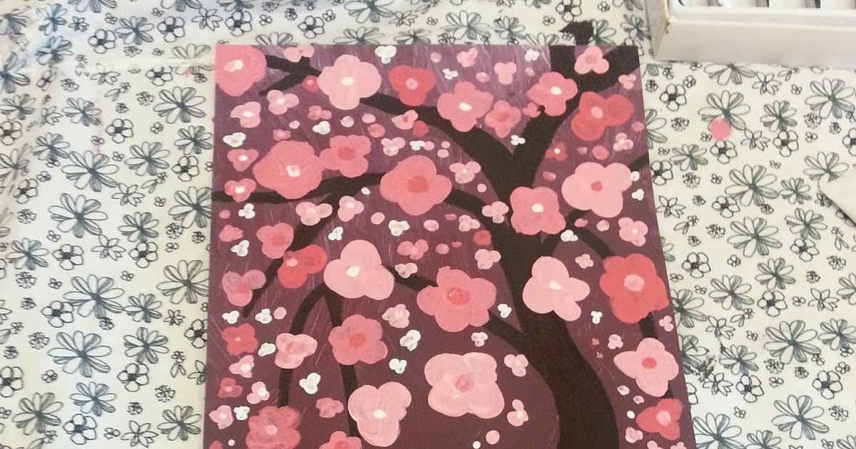 Noodle Reviews: DIY Wall Art - Cherry Blossoms with ...