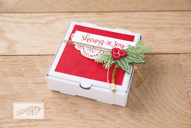 Learn how to decorate your Mini Pizza Boxes from Stampin' Up!