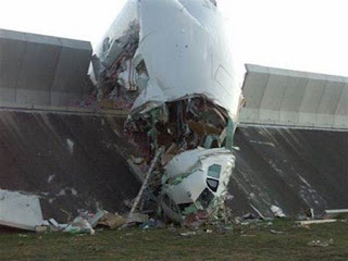 New Airbus 340-600 crashed into a blast barrier