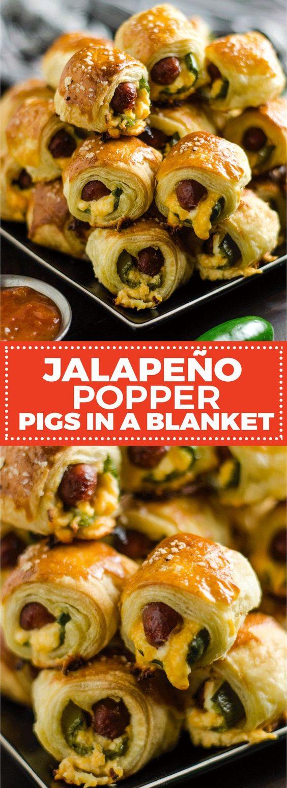 JALAPEÑO POPPER PIGS IN A BLANKET #APPETIZER #GAMEDAY