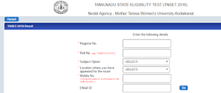 tamilnadu set exam result 2016