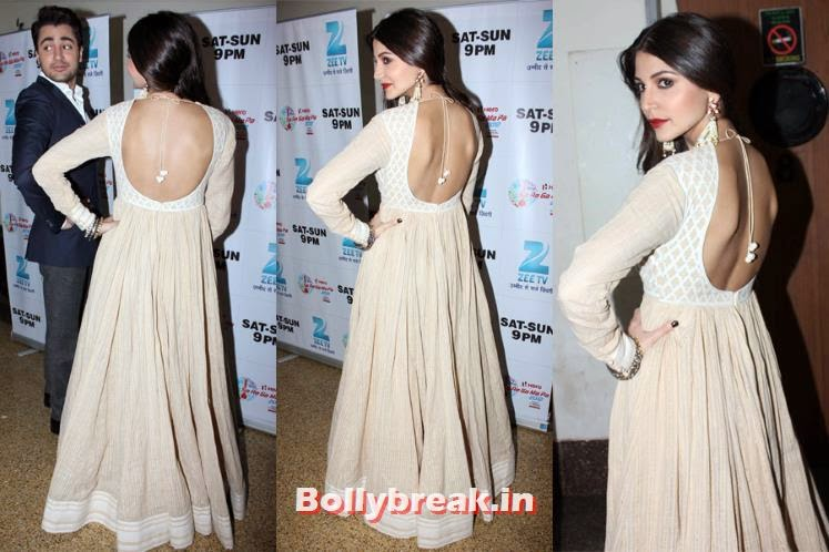 Anushka Sharma, Bollywood Actresses Backless Gowns Photos on Red Carpet
