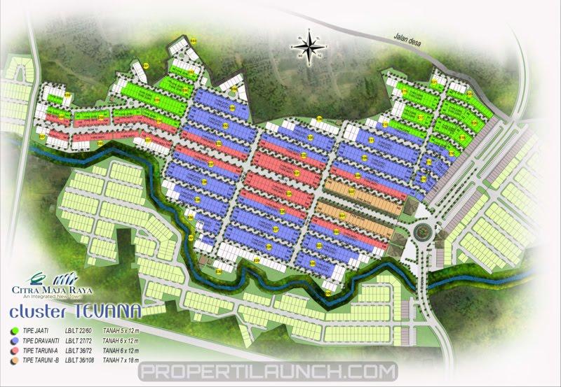 Site Plan Cluster Tevana Citra Maja Raya 2