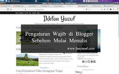 Pengaturan Wajib di Blogger Sebelum Mulai Menulis