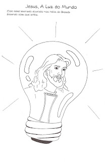 Resultado de imagem para jesus luz do mundo para colorir