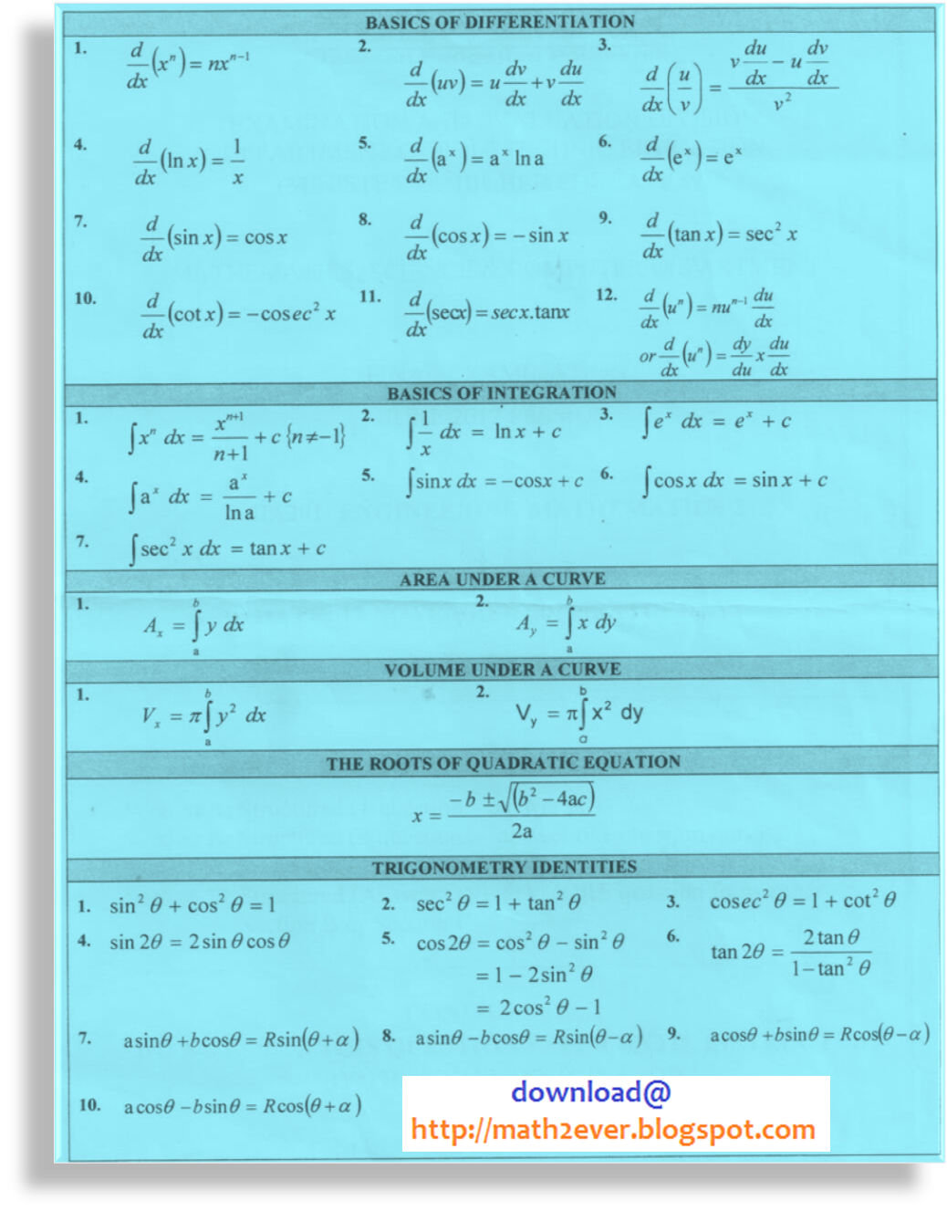 Formula engineering mathematics 2 ba201 engineering mathematics how to use students are encouraged to download this file in g and take it as a reference for each chapter as mentioned above malvernweather Image collections