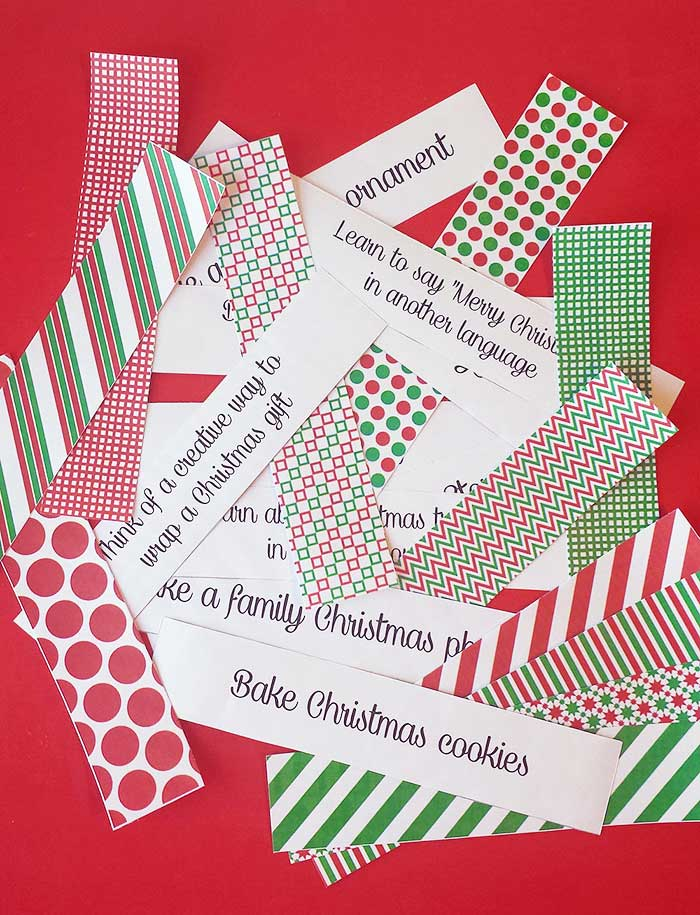 Free Printable Christmas Activities Paper Chain Sunny Day Family