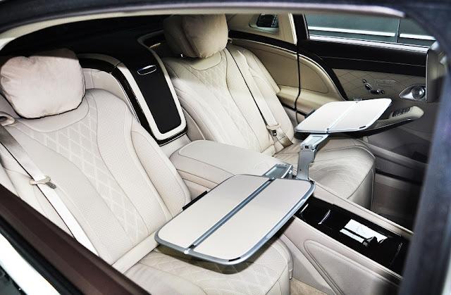 Băng sau Mercedes Maybach S450 4MATIC 2018 thiết kế rộng rãi,thoải mái với đầy đủ các tiện ích