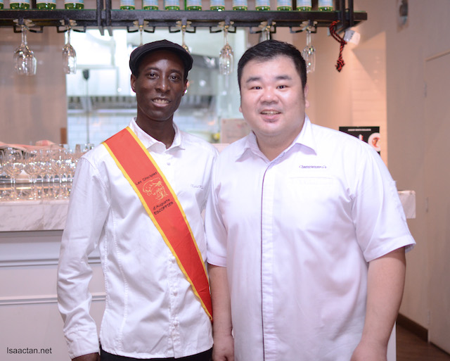 Invited Chef, Chef Raphaël Kinimo and Champignons owner, Chef Gary Chang