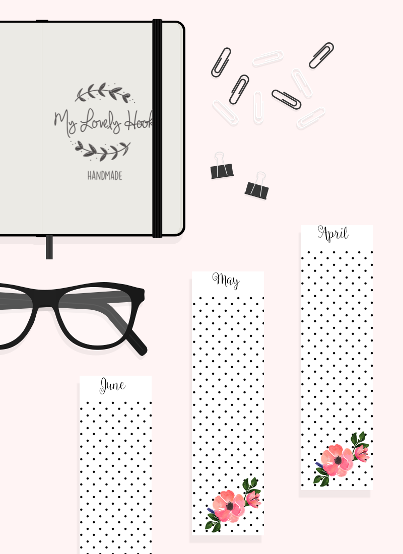 12 months personal planner dividers FREE printable by MyLovelyHook