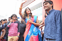 Puja Hegde looks stunning in Red saree at launch of Anutex shopping mall ~ Celebrities Galleries 142.JPG