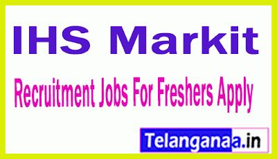 IHS Markit Recruitment Jobs For Freshers Apply