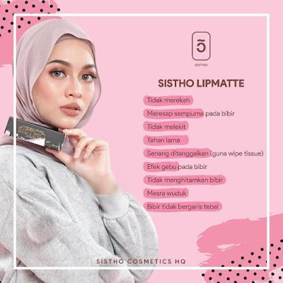 Lipmatte SISTHO Cosmetics - Cepat Serap dan Cepat Matte (Kering)