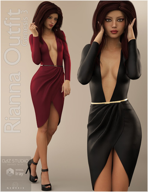 Rianna Outfit for Genesis 3 Female