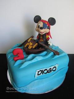 O Mickey Pirata no 3º aniversário do Diogo