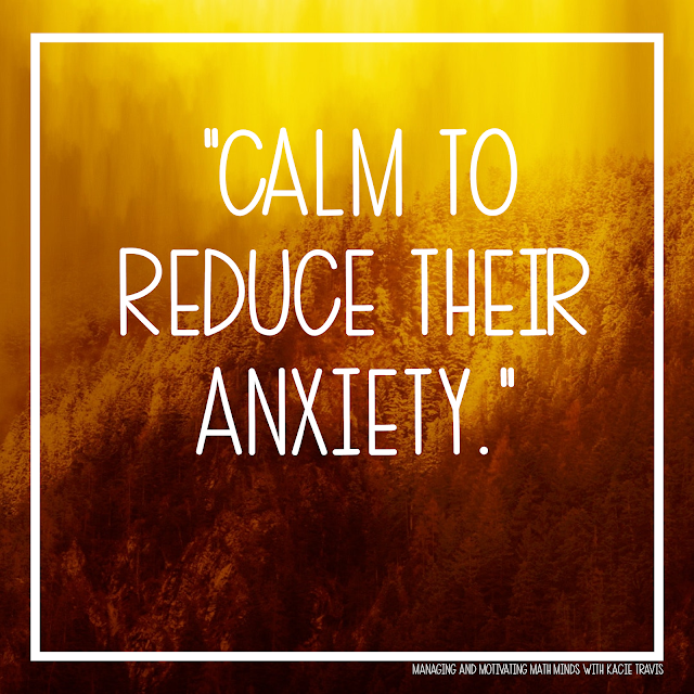 Lord, give my students calm to reduce their anxiety.