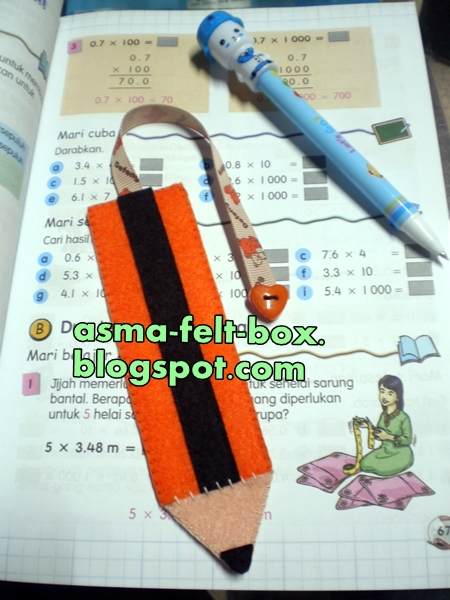 Pencil Felt Bookmark
