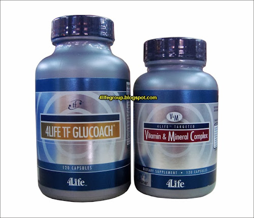 foto 4Life TF GluCoach + 4Life Targeted Vitamin & Mineral Complex (Bungkusan Lama)