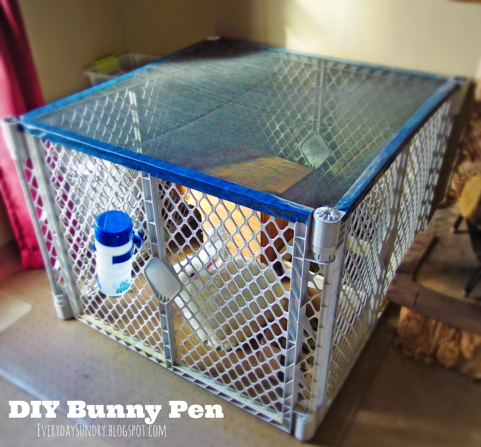 Diy Cage For Rabbit Everyday Sundry Diy Bunny Pen