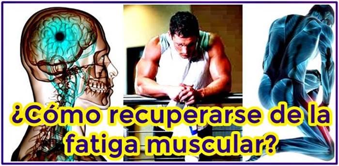 Aprende a recuperarte de la fatiga muscular provocada por el exceso de ejercicio y malnutrición