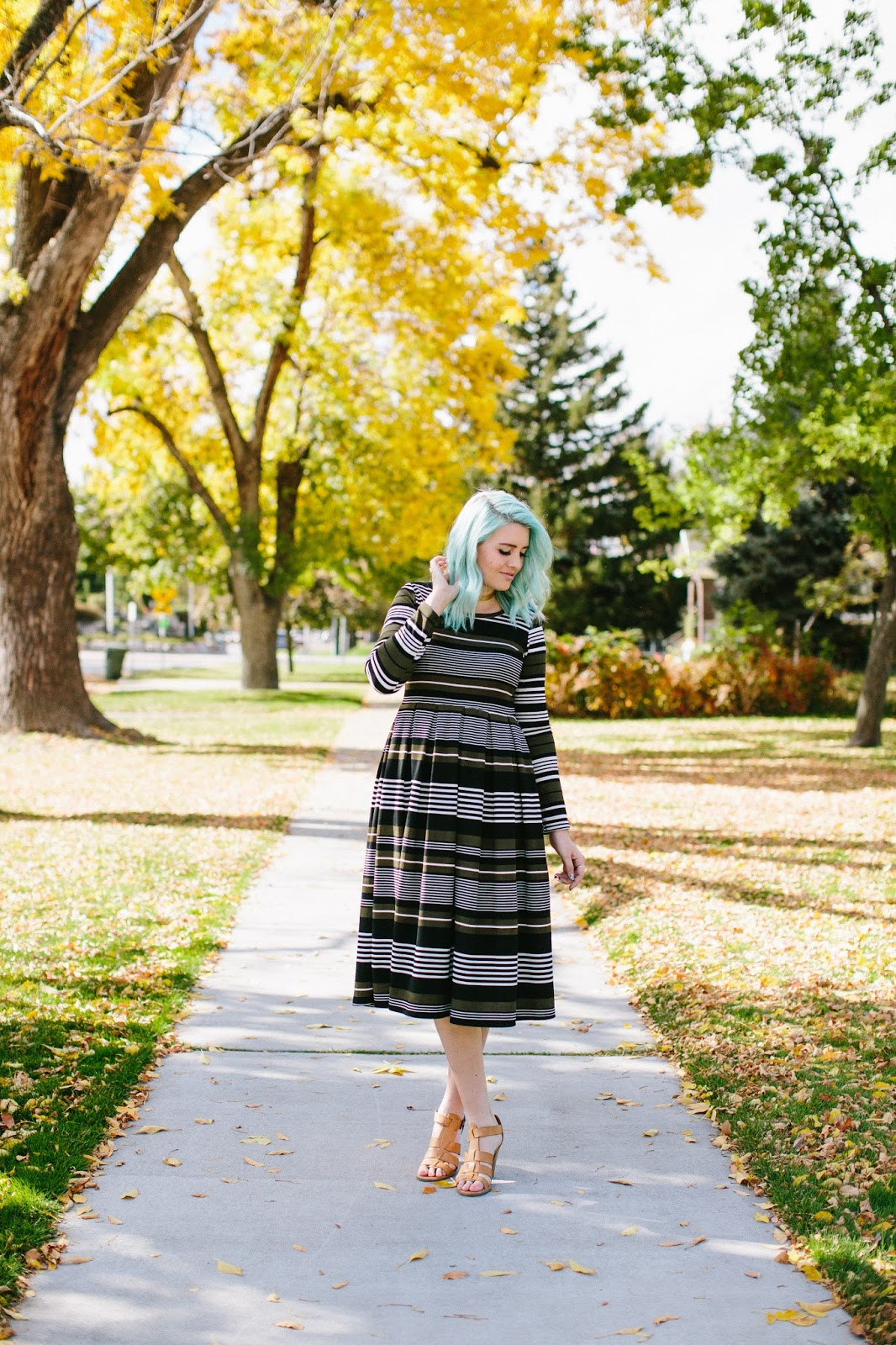 Striped Dress, Fall Dress, Utah Fashion Blogger