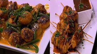 برنامج  أميرة في المطبخ 7-3-2017 طريقة عمل أسياخ الدجاج بالباربكيو والعسل - جمبري بجوز الهند - كفتة جمبري تايلاندي مع أميرة شنب