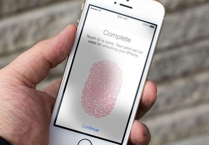 Pemindai sidik jari Touch ID