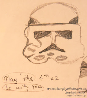 The Crafty Thinker, sketch for star wars stormtrooper card, #thecraftythinker