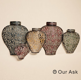 vase metal wall art