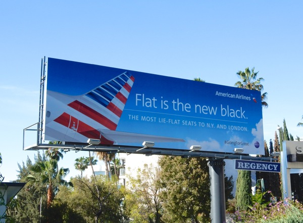 American Airlines Flat is the new black billboard