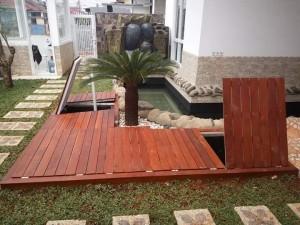 decking kayu merbau outdoor