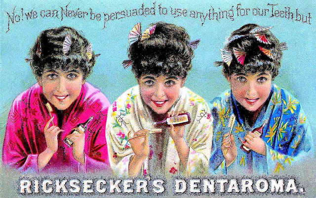 1890s? toothpaste color ad, Ricksecker's Dentaroma