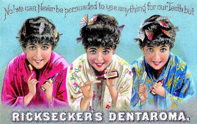 1890s? toothpaste color ad, Ricksecker's Dentaroma