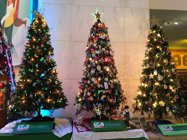Australia, Bolivia and Puerto Rico Trees during Christmas Around the World and Holidays of Light at Museum of Science and Industry