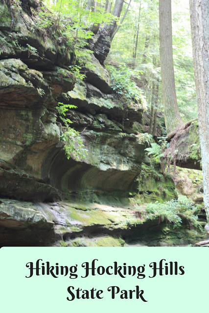 Hiking in Hocking Hills State Park in Ohio