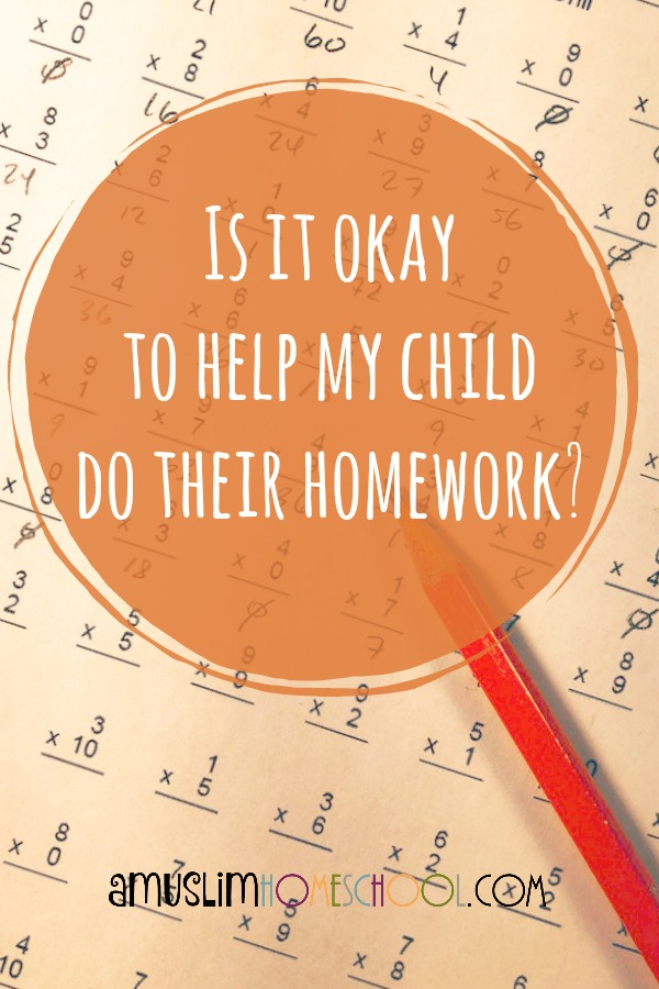 Is it okay to help kids do their homework?