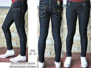 Celana Jeans Wanita Levi's Skiny Biru Dongker