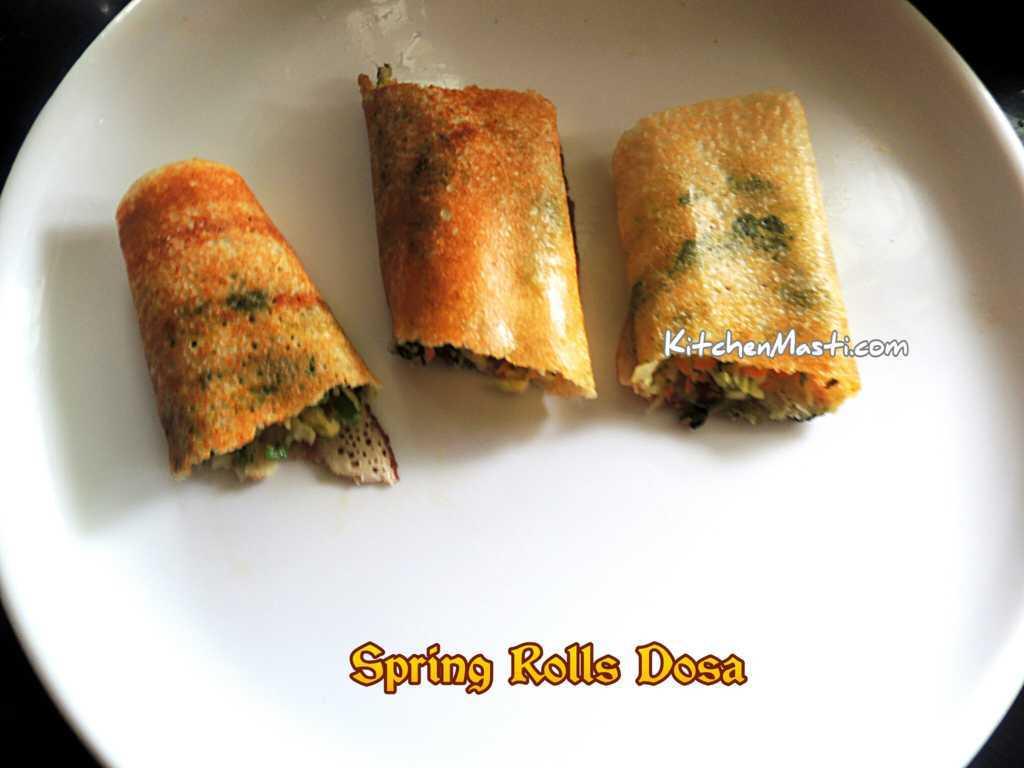 spring rolls dosa