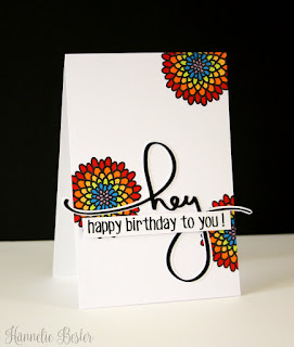 rainbow flower birthday card