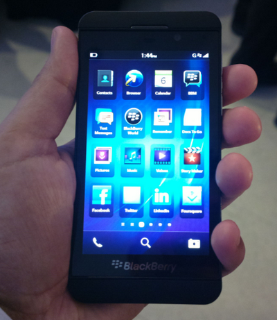 globe blackberry z10