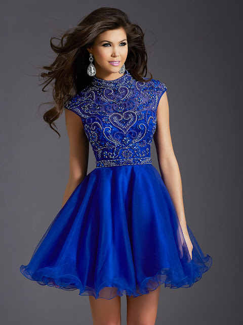 high bateau neckline homcoming dress