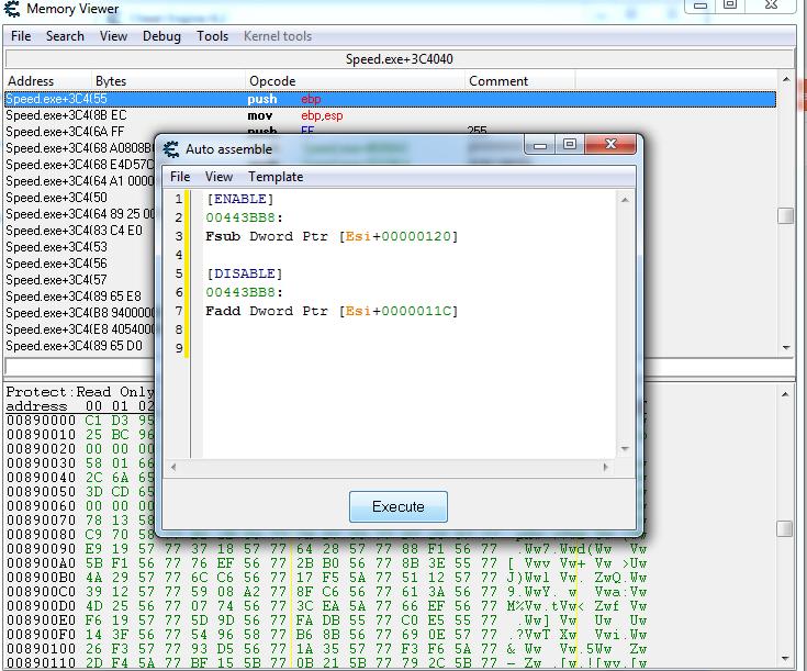 Execute Kode Cheat