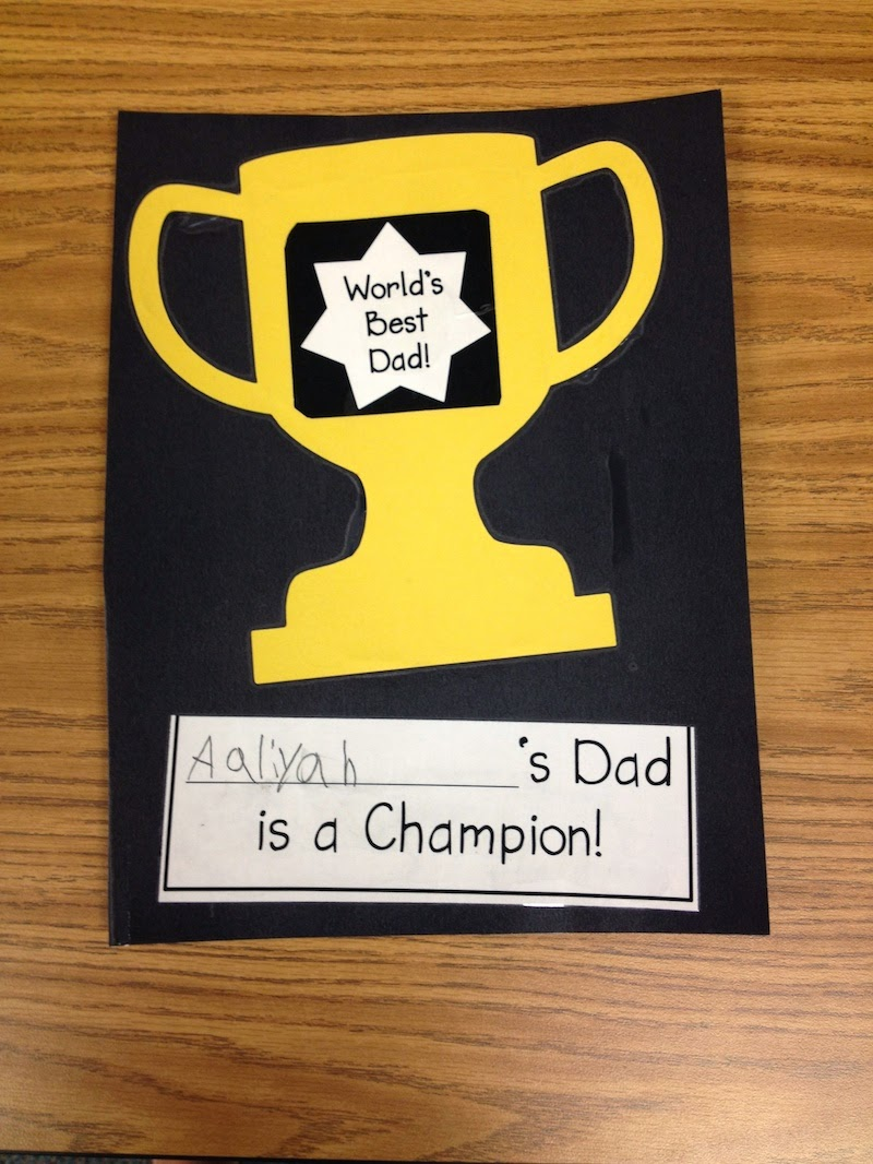 fathers day trophy card mrs solis s teaching treasures s day 4450