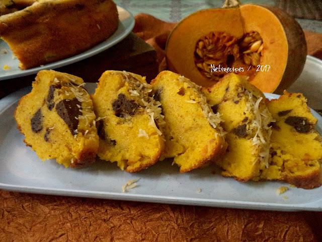 Cake Marmer Labu Kuning