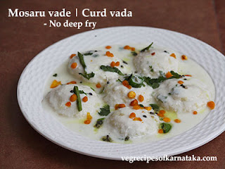 Mosaru vade recipe in kannada