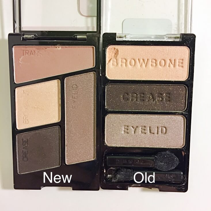 wet n wild coloricon Eyeshadow Quad old vs new Silent Treatment