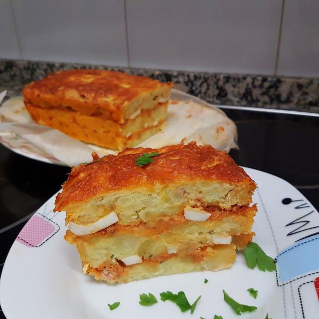 Pastel de patata relleno